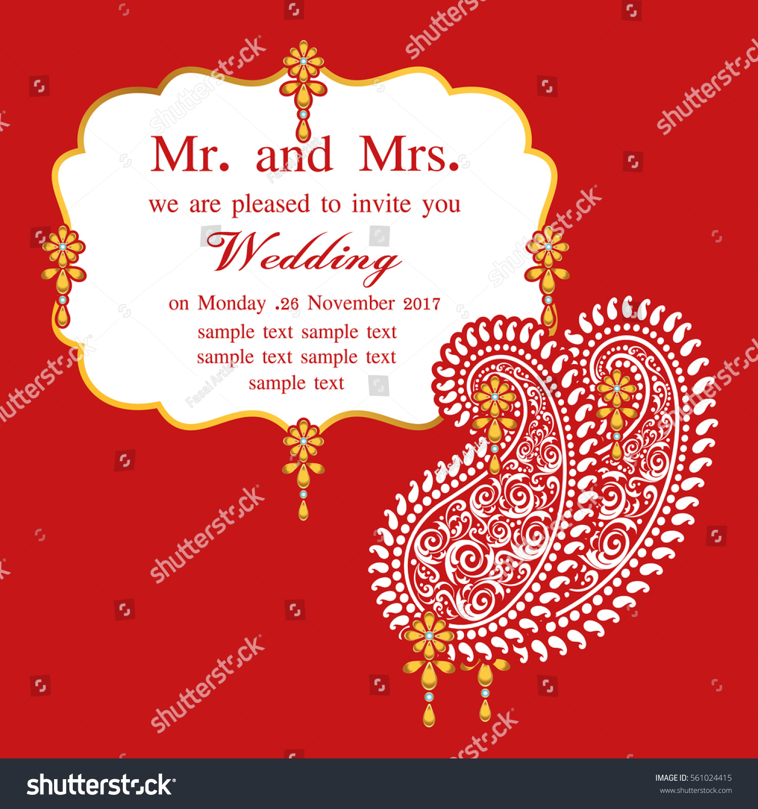 Indian Wedding Invitation Card Abstract Background Stock ...