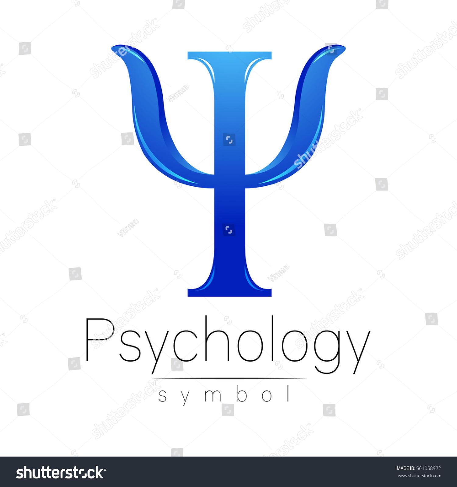 Modern Logo Psychology Psi Creative Style Stock Vector