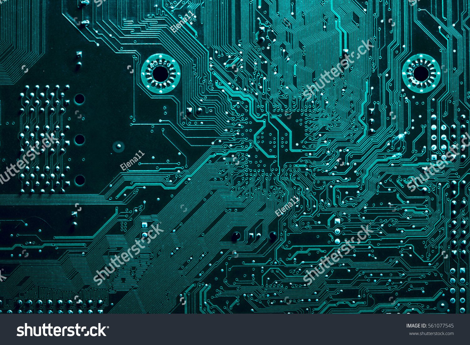 Circuit Board Electronic Computer Hardware Technology Stock Photo ...