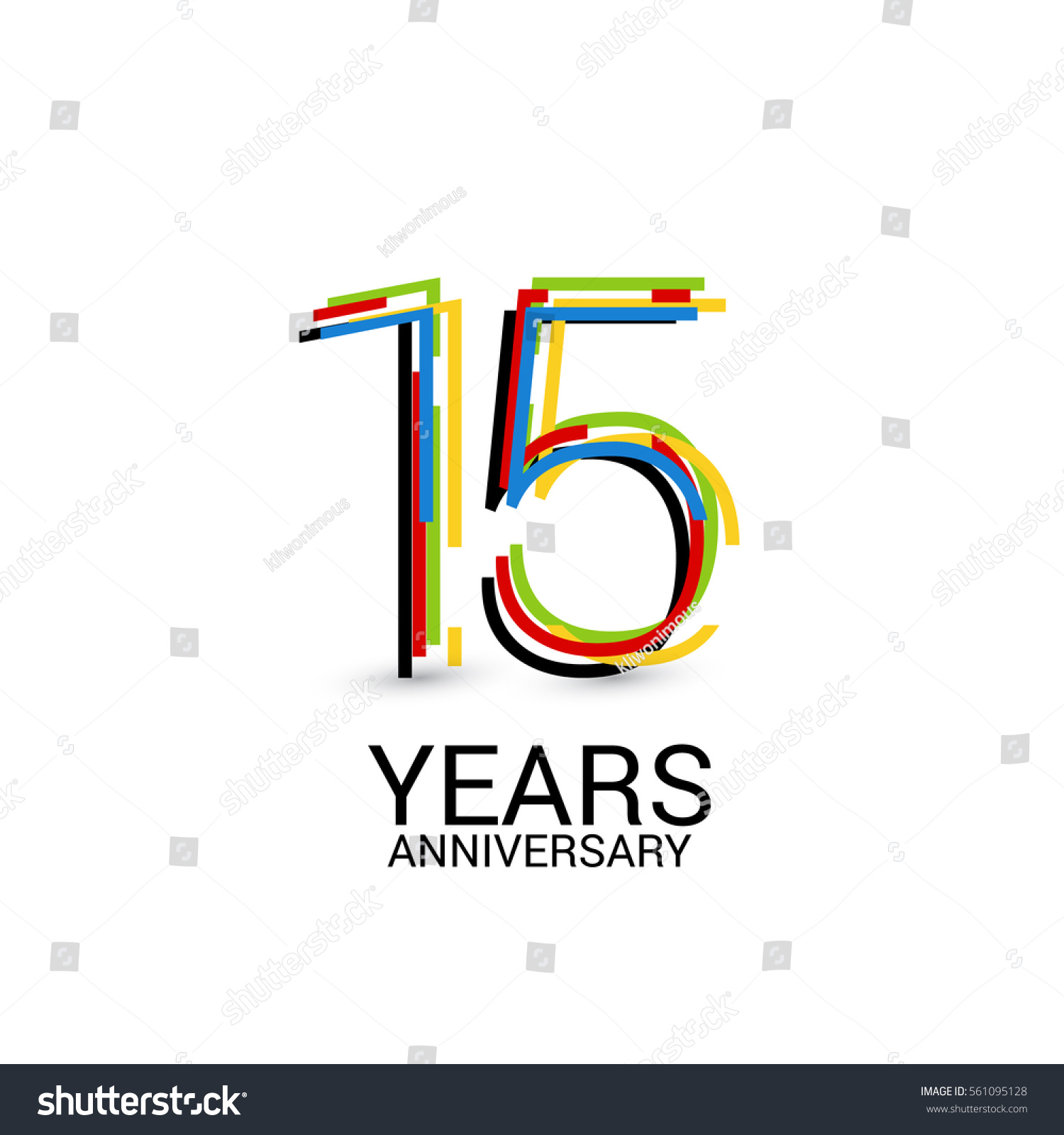 15 years anniversary colorful logo celebration stock vector 15 years anniversary colorful logo celebration isolated on white background biocorpaavc
