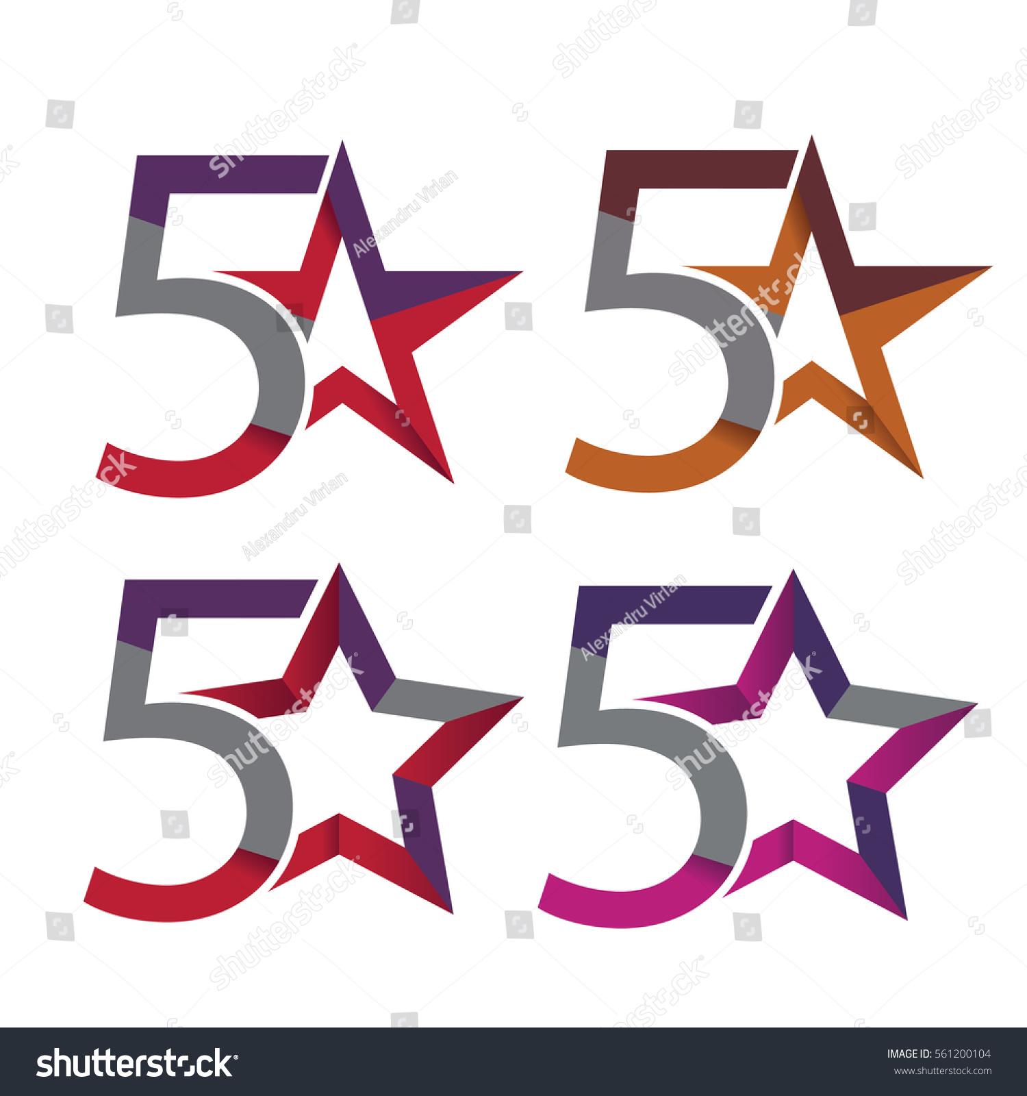 5 Star Symbols Stock Vector Royalty Free 561200104 Shutterstock