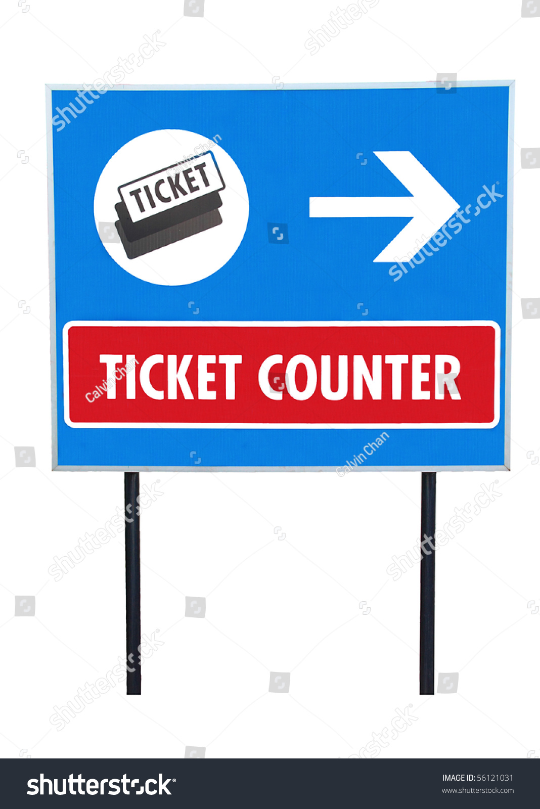 isolated signboard word ticket counter clipping path stock photo save to a lightbox