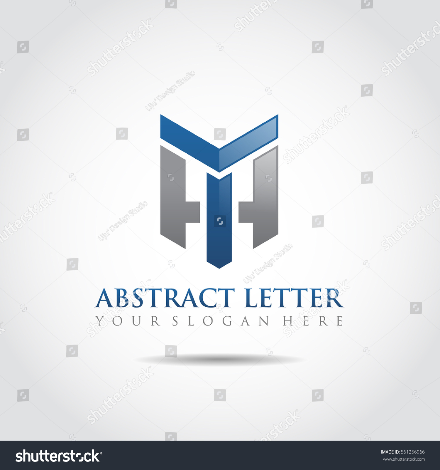 abstract letter th logo template vector stock vector 561256966