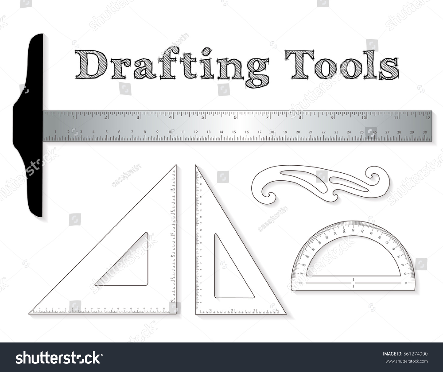Drafting Tools For Architecture And Engineering: Aluminum T Square With  Inch And Centimeter Measure