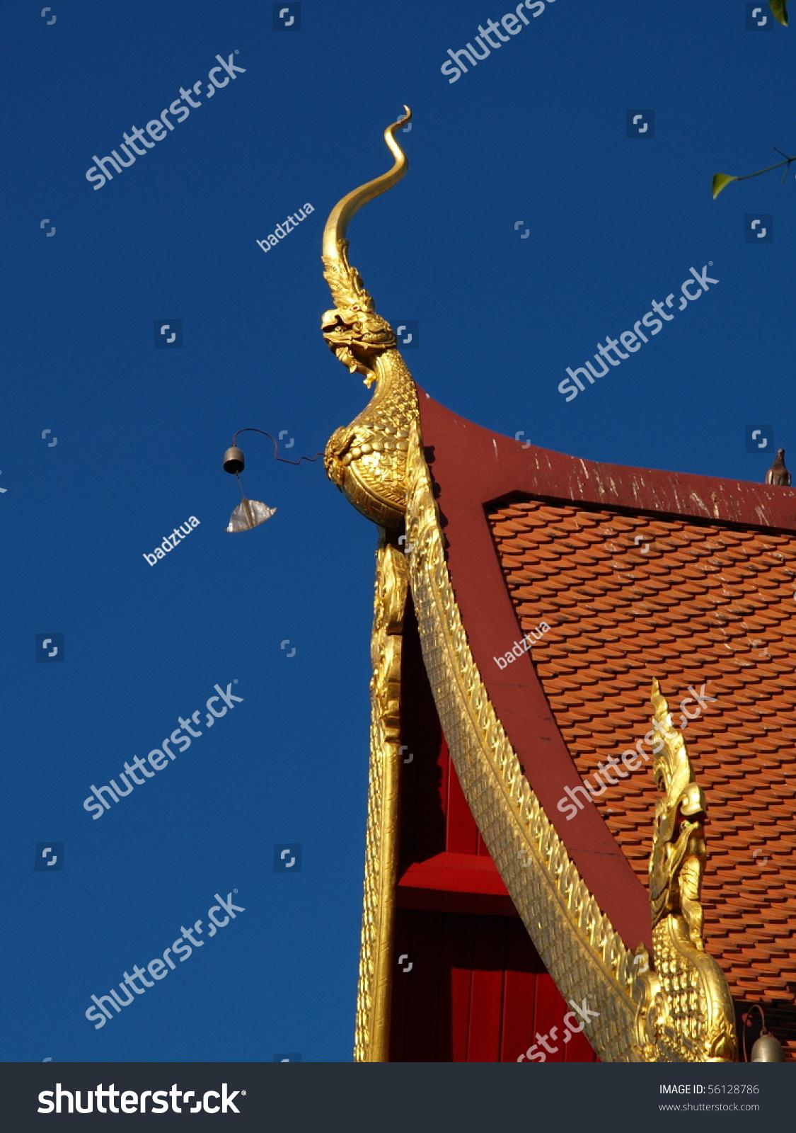 Gable Gable Apex Of Thai Temple In Thai It S Call Chor