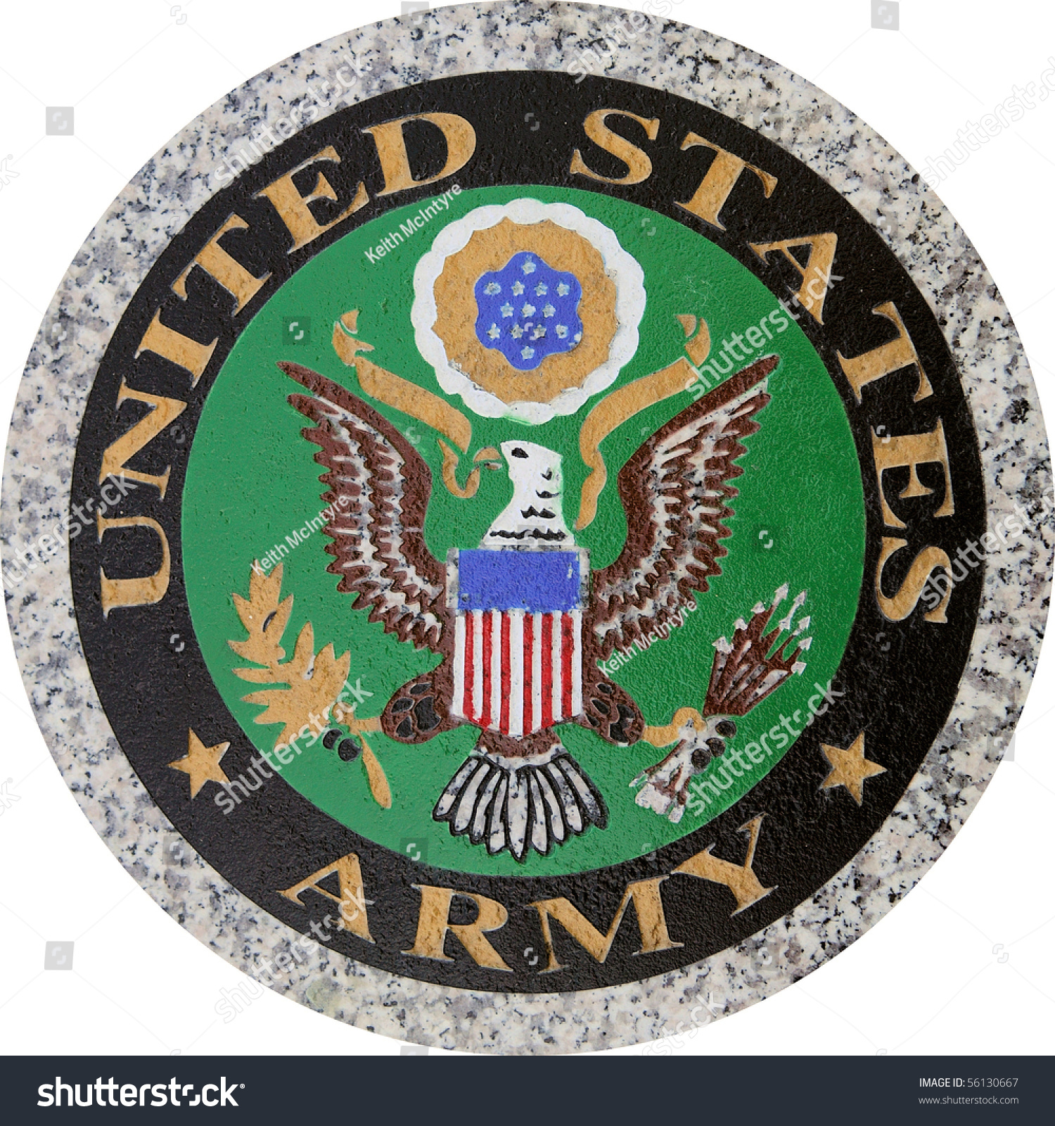 Us Army Symbol Version 1 Carved Stock Photo Edit Now 56130667