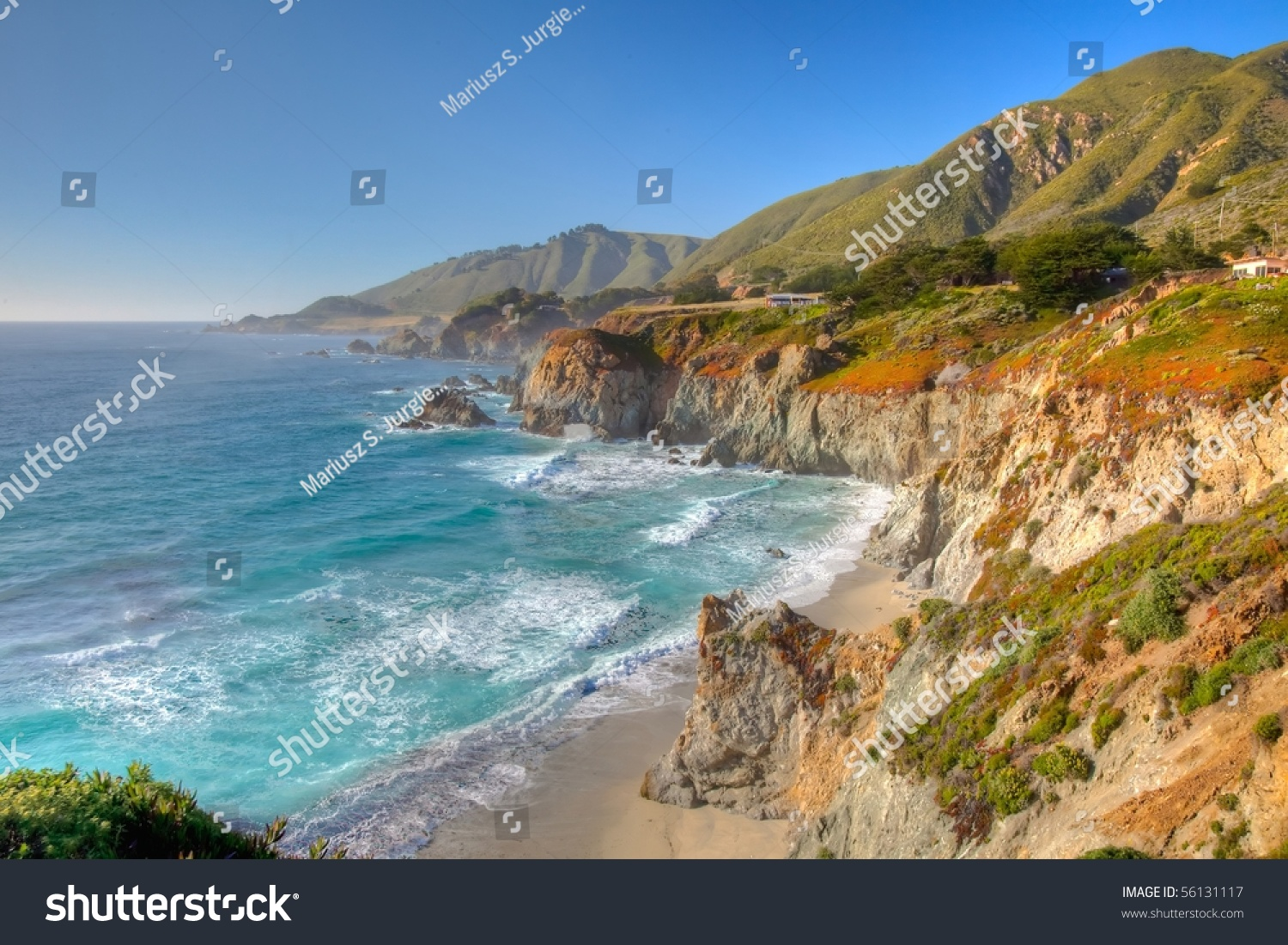 Big Sur Sparsely Populated Region Central Stock Photo ...