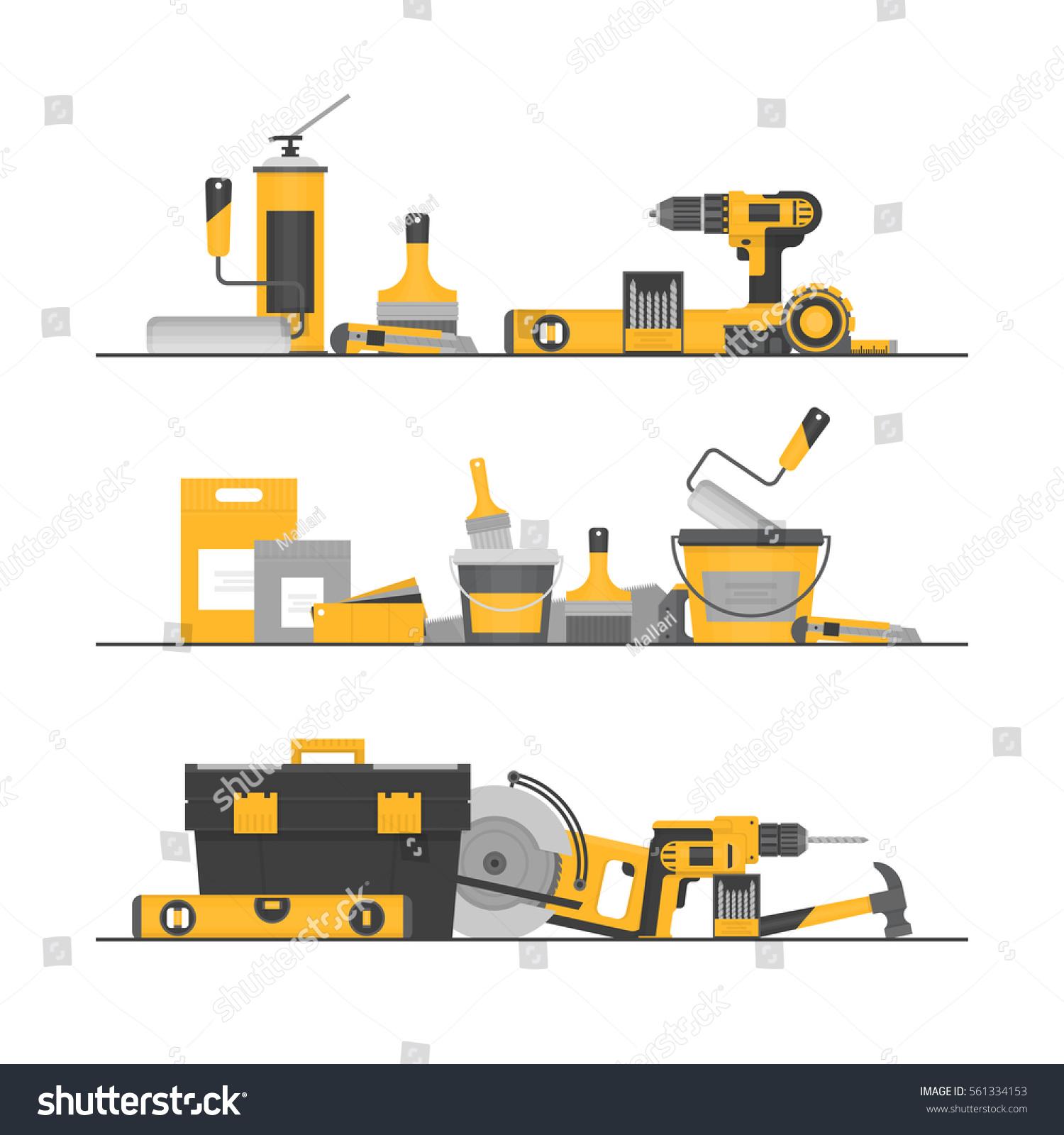home repair construction tools hand tools stock vector 561334153