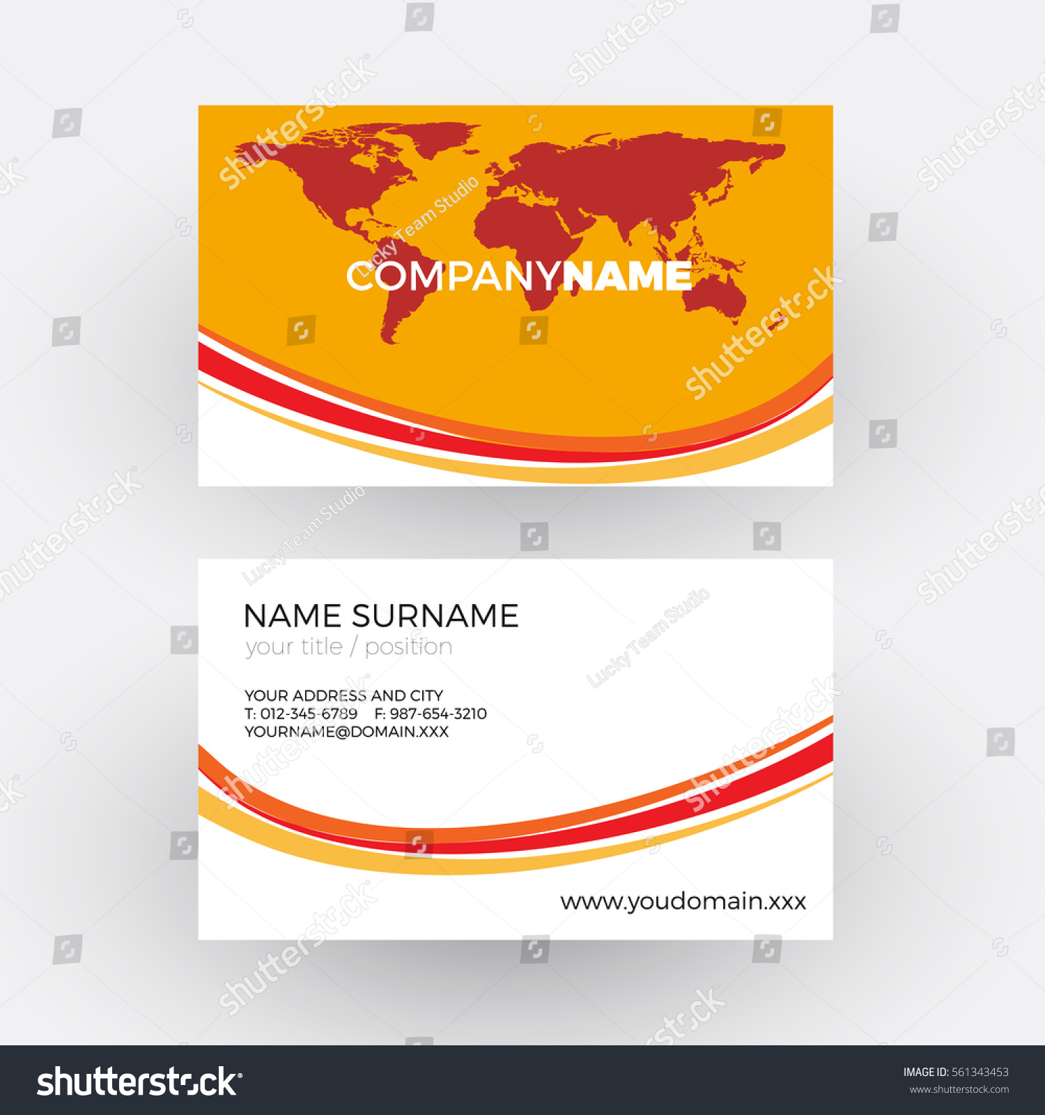 Red World Waves Global Business Concept Stock Vector HD (Royalty ...