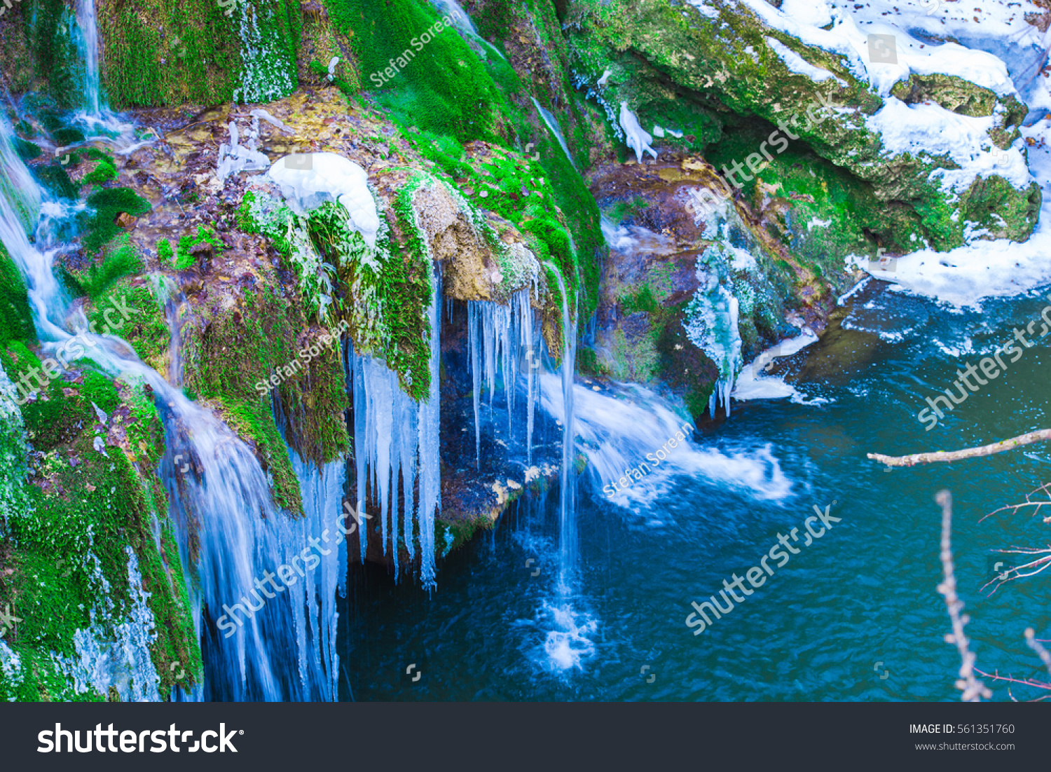One Most Beautiful Waterfall On World Stock Photo