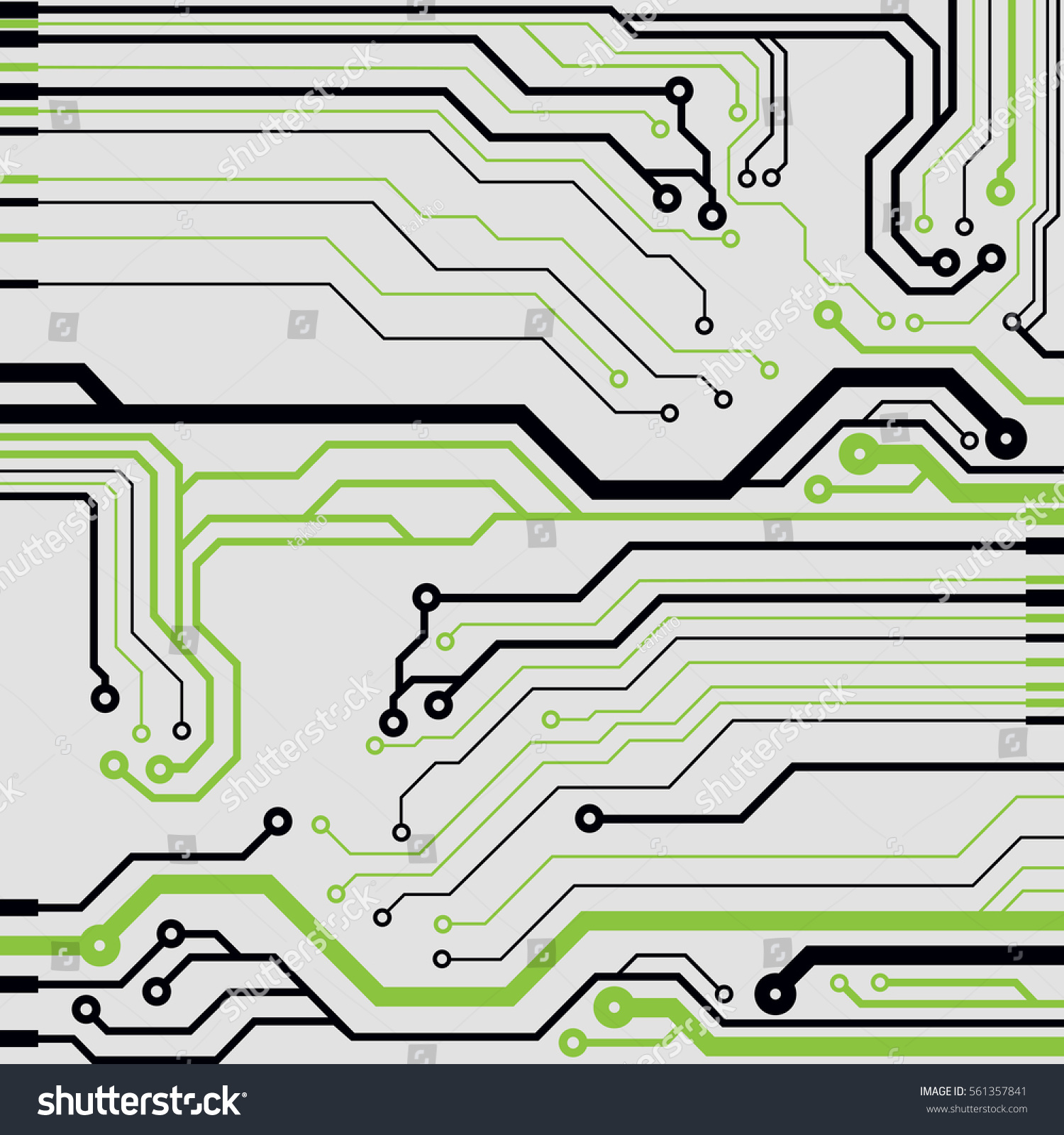 Vector Circuit Board Illustration Stock Royalty Free