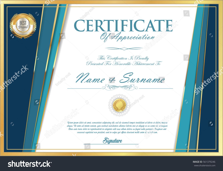 Certificate Retro Design Template Stock Vector 2018 561379246