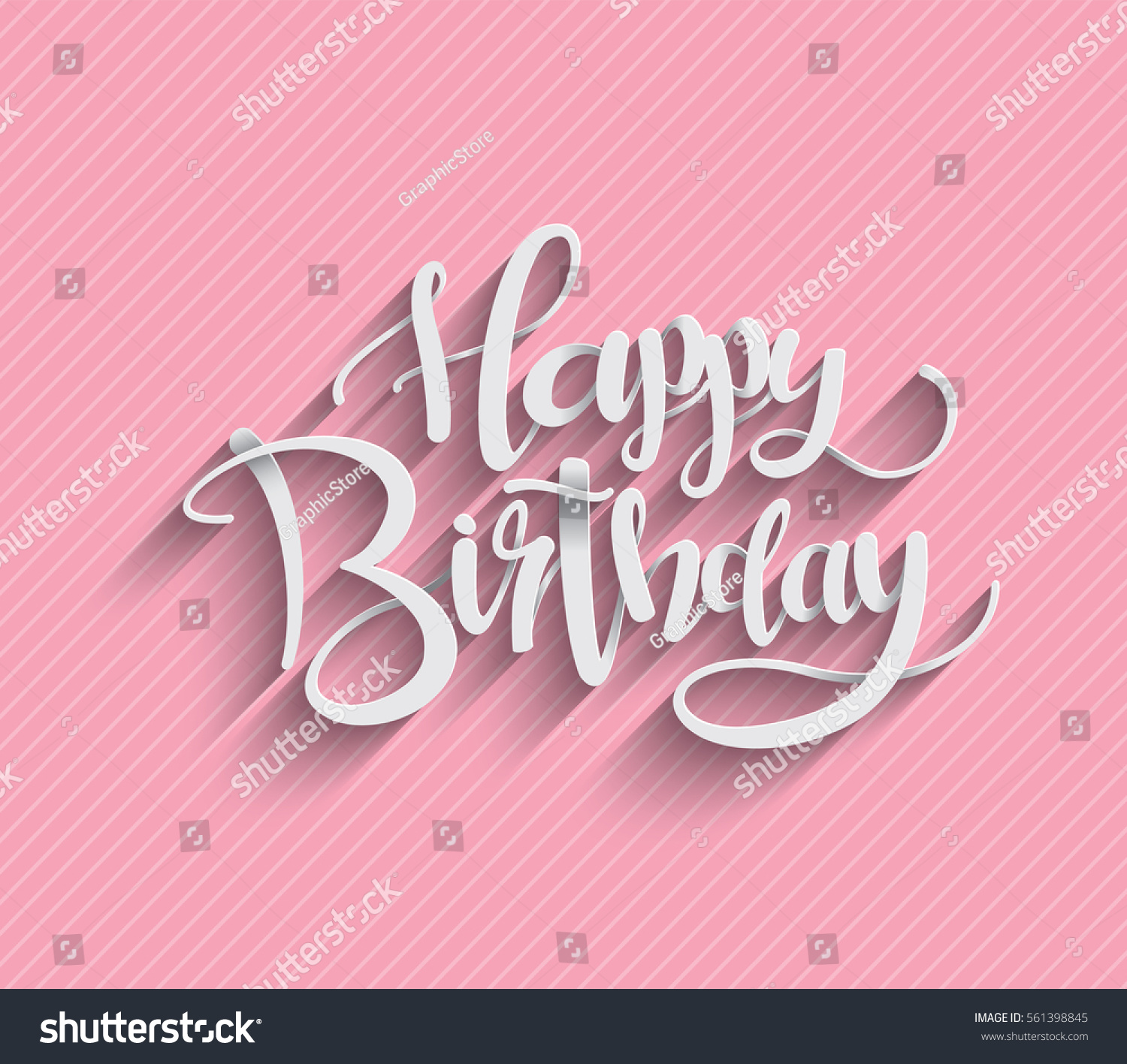 Happy Birthday Greeting Card Lettering Design Stock Vector Royalty