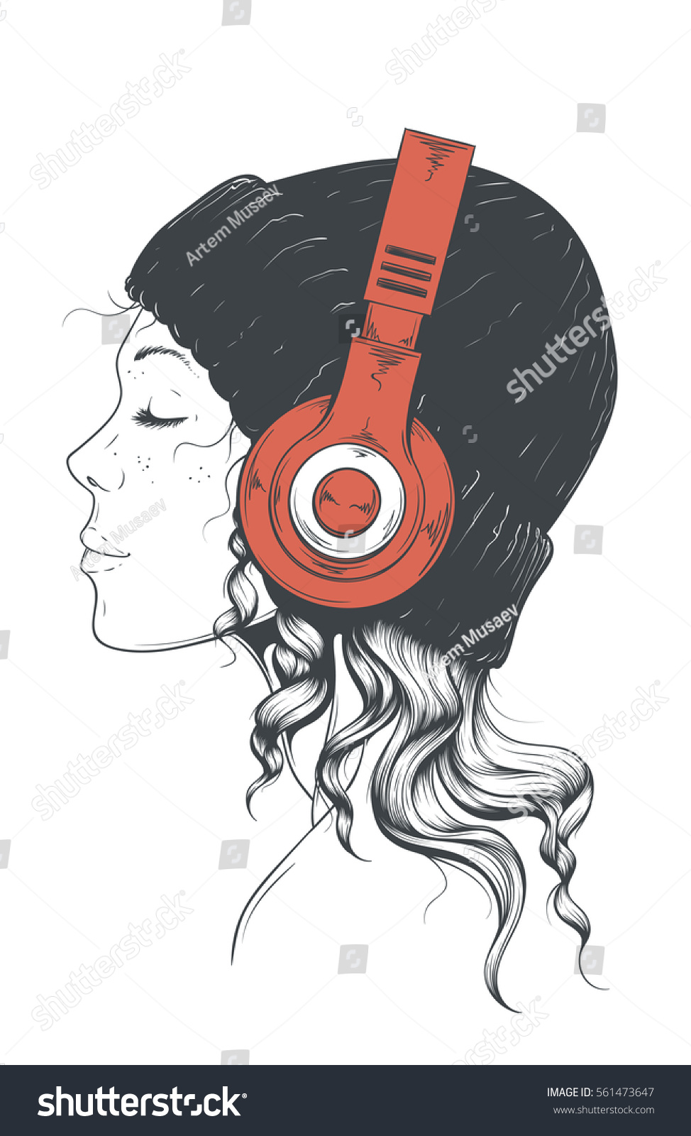 Beautiful Young Hipster Girl Stylish Modern Stock Vector 561473647 ...