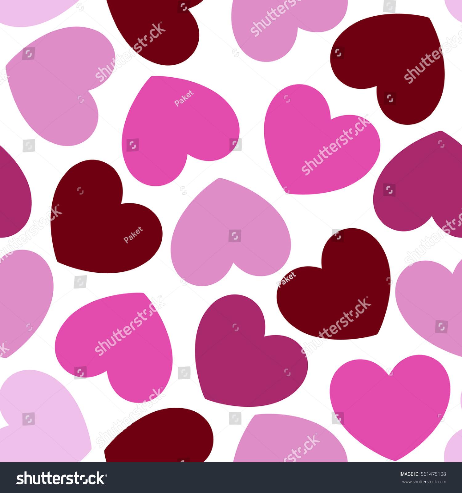 Romantic vector seamless background greeting card wallpaper vector art -  Vectors Illustrations Footage Music Seamless Heart Pattern Romantic Pink Hearts Background Valentines Day Card Wedding Baby
