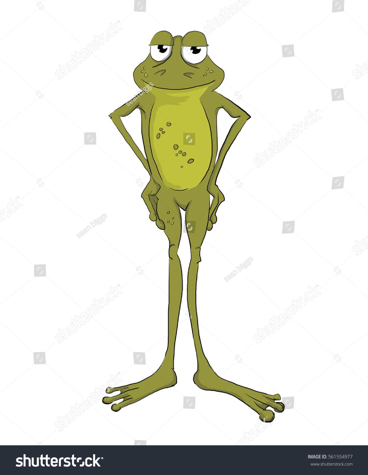 hand drawn illustration cartoon frog stock illustration 561554977
