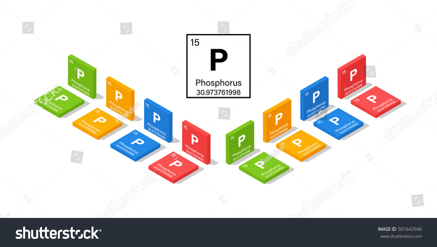 Elements periodic table phosphorus 3d isometric stock vector elements in the periodic table phosphorus 3d isometric style vector illustration gamestrikefo Image collections