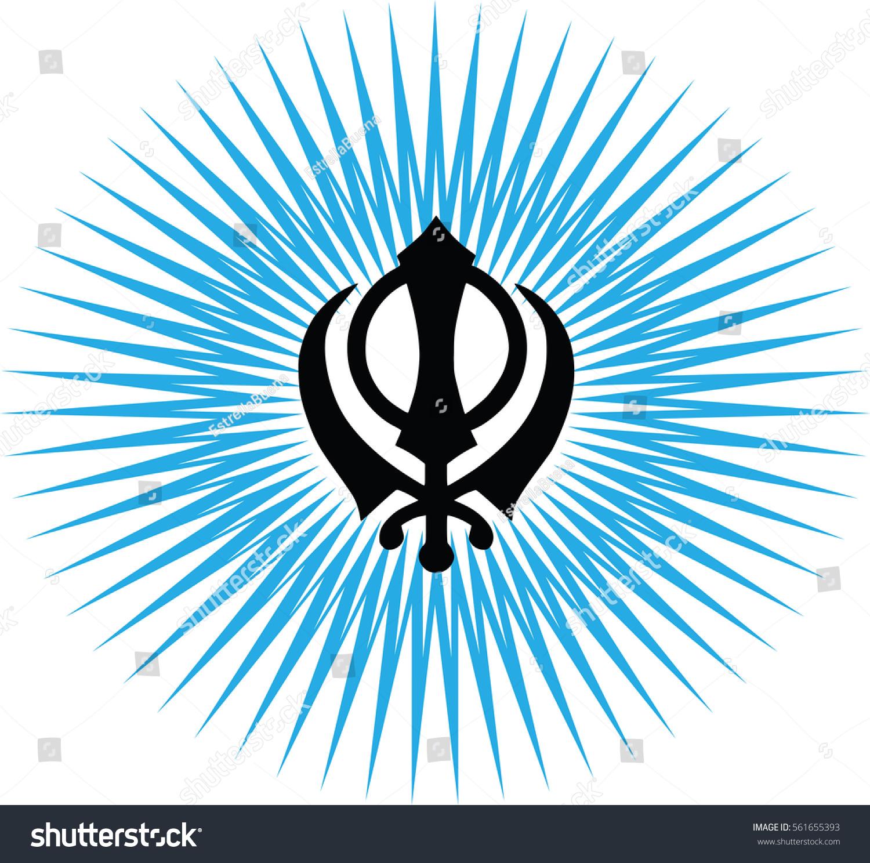 Khanda main symbol sikhism transparent background stock vector khanda is the main symbol of sikhism transparent background blue sunlight biocorpaavc