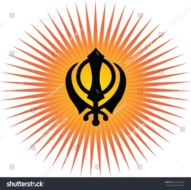 Khanda main symbol sikhism transparent background stock vector khanda is the main symbol of sikhism transparent background red and gold sun rays biocorpaavc