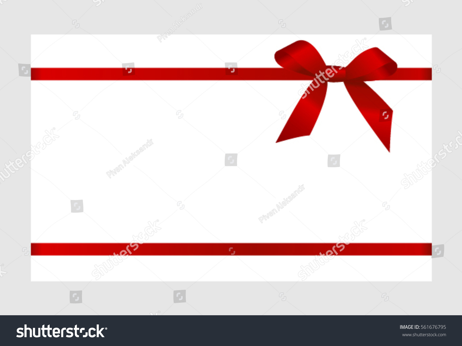gift card red ribbon bow on stock vector shutterstock gift card red ribbon and a bow on white background gift voucher template