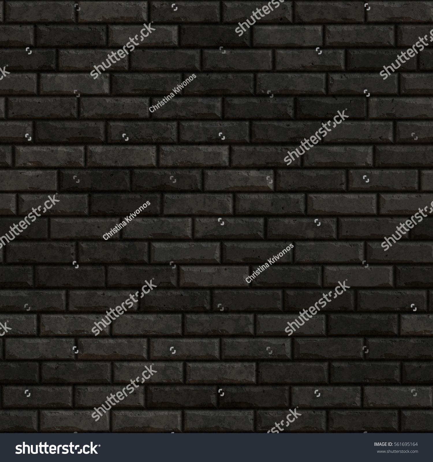 Black Bricks Texture Of A Dark Brick Wall Seamless Background