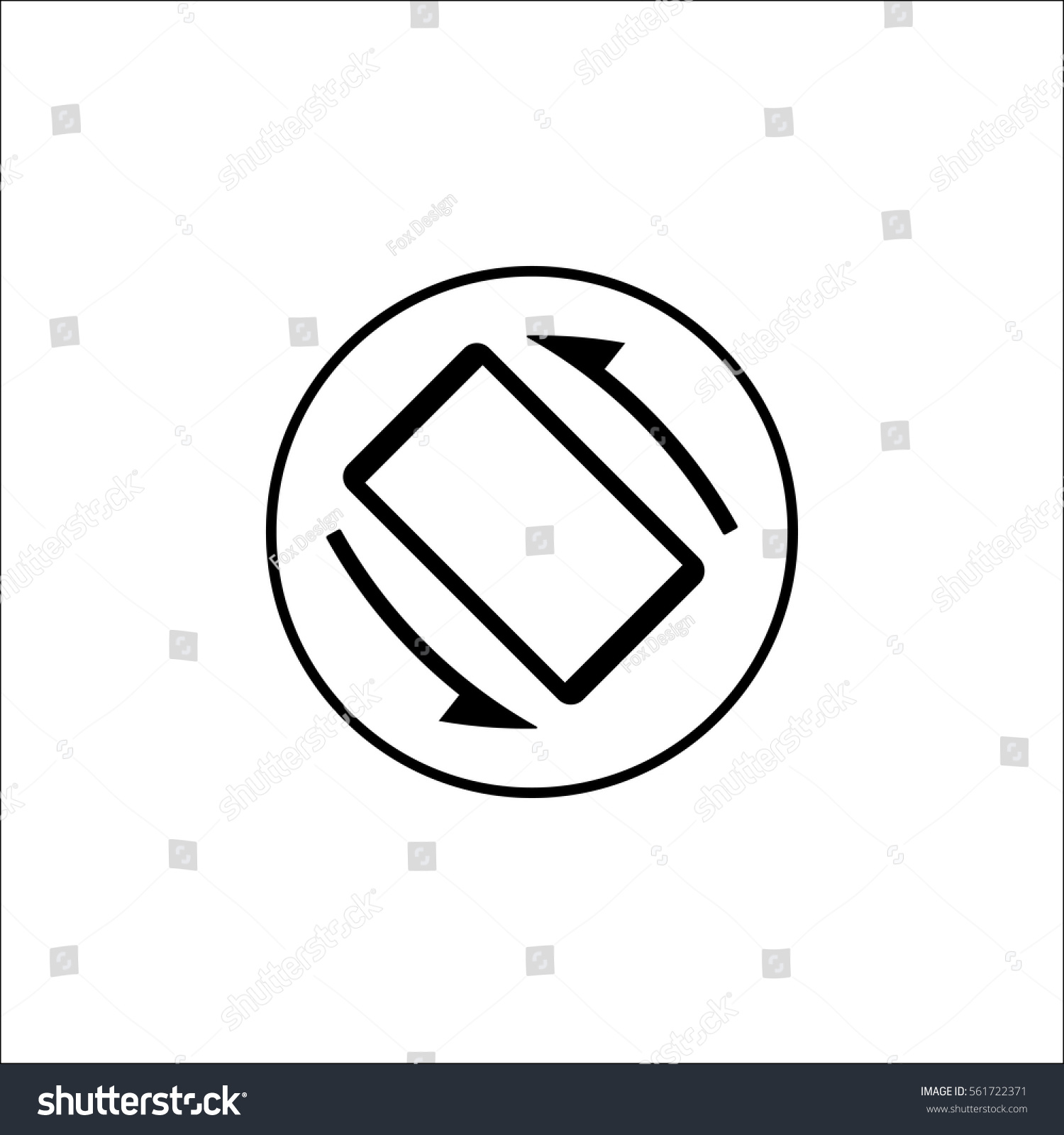 Auto rotation solid icon mobile sign stock vector 561722371 auto rotation solid icon mobile sign vector graphics a filled pattern on a biocorpaavc