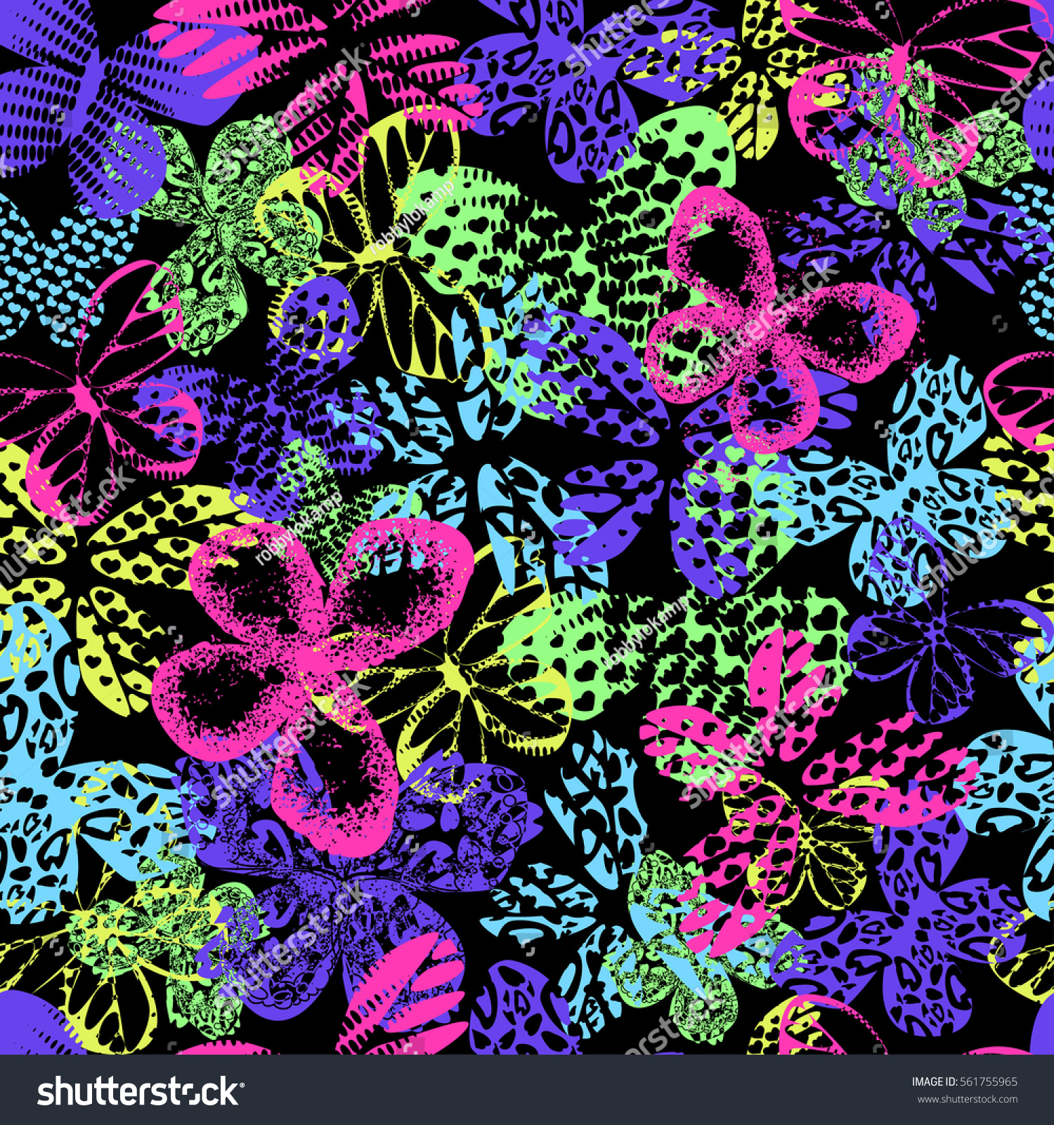 Abstract Seamless Pattern For Girls Boys Clothes Wallpaper Creative Vector Background With