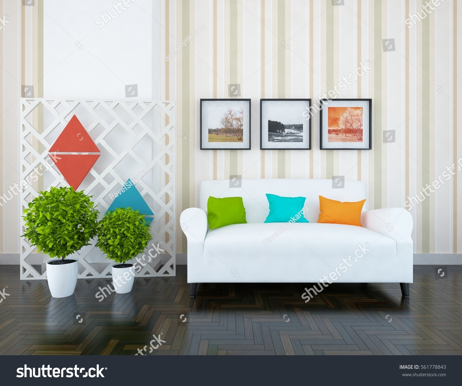sofa pictures living room. White room with sofa  Living interior Scandinavian design 3d illustration Room Sofa Interior Stock Illustration 561778843