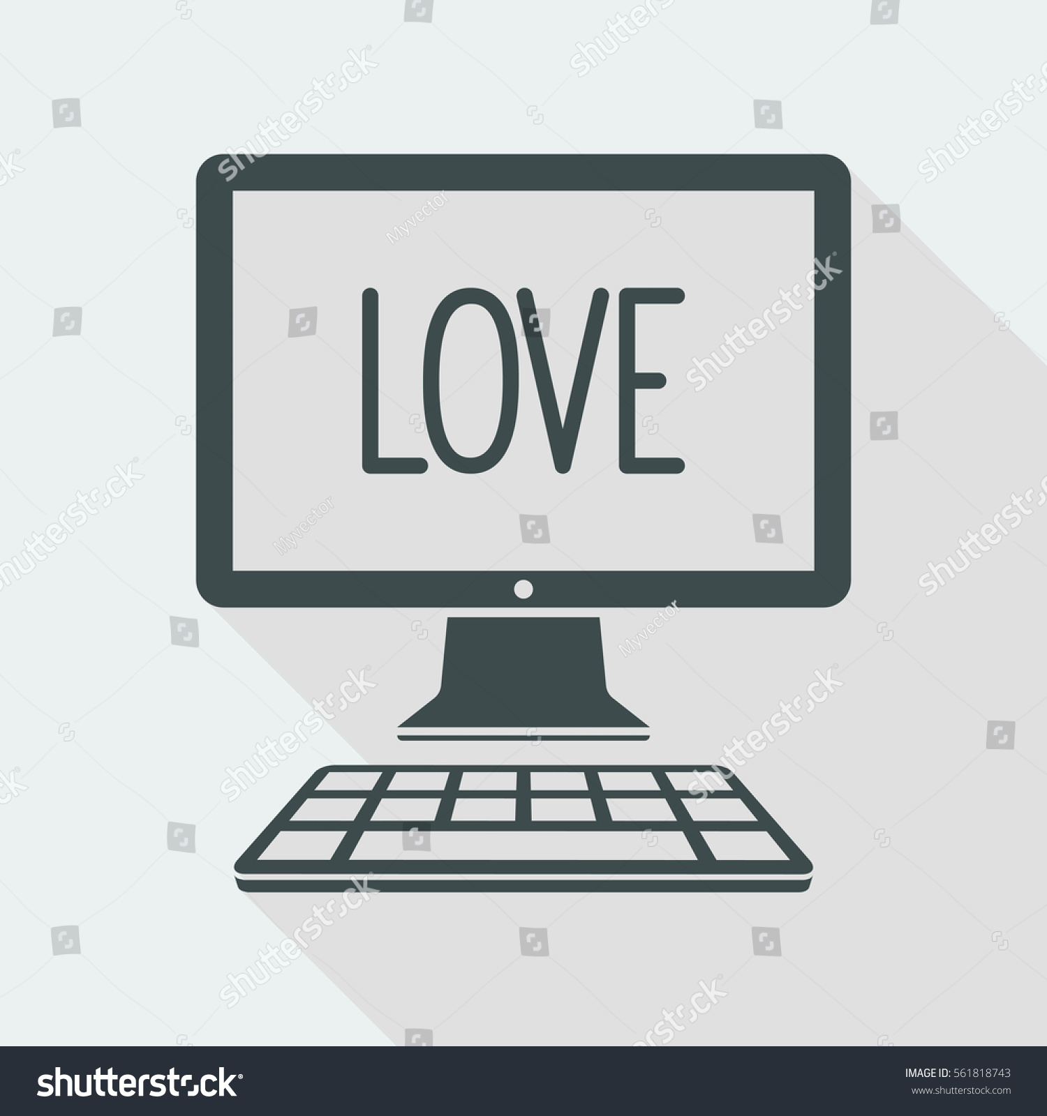 Love Symbol Vector Icon Computer Website Stock Vector 561818743