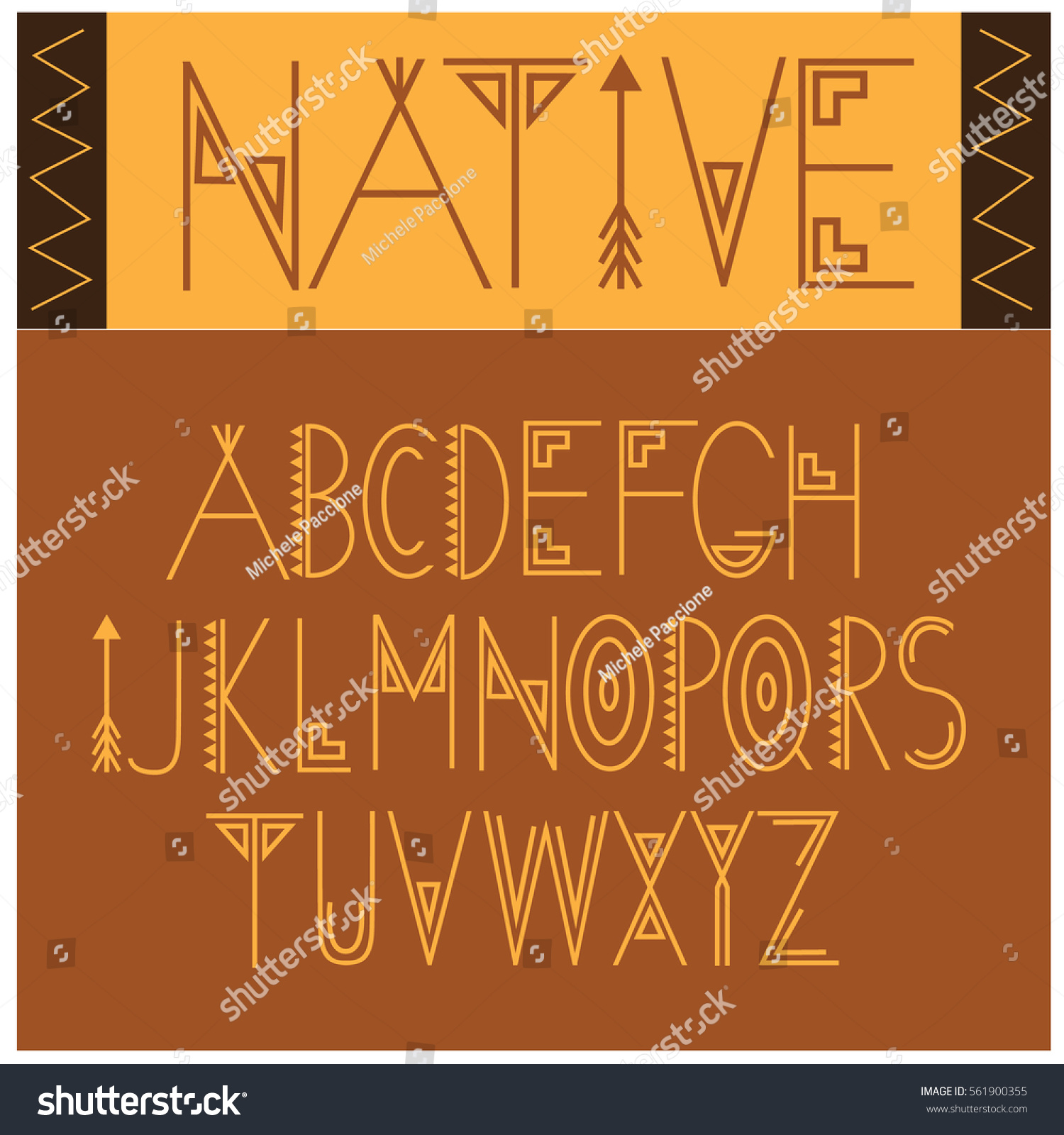 Native font symbol icon alphabet through stock vector 561900355 native font symbol icon alphabet a through z an interpretation of native american or aboriginal biocorpaavc Image collections