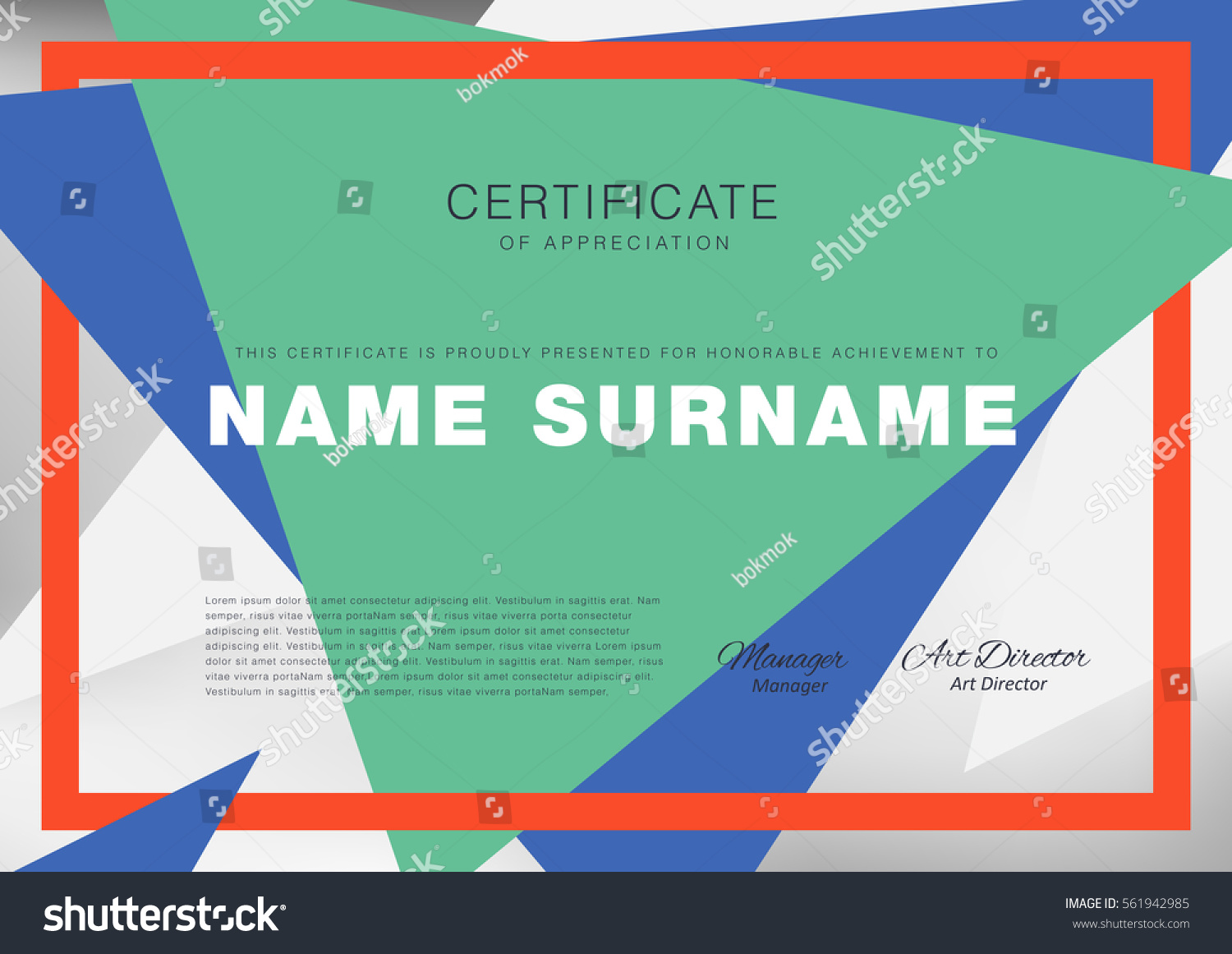 Certificate layout template clean modern patterndiplomavector certificate layout template with clean and modern patterndiplomavector illustration yadclub Gallery