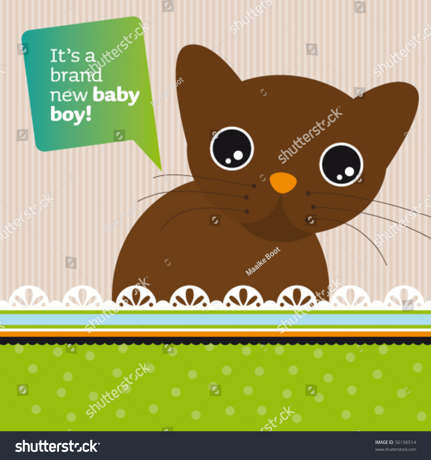 new born baby boy announcement card stock vector royalty free
