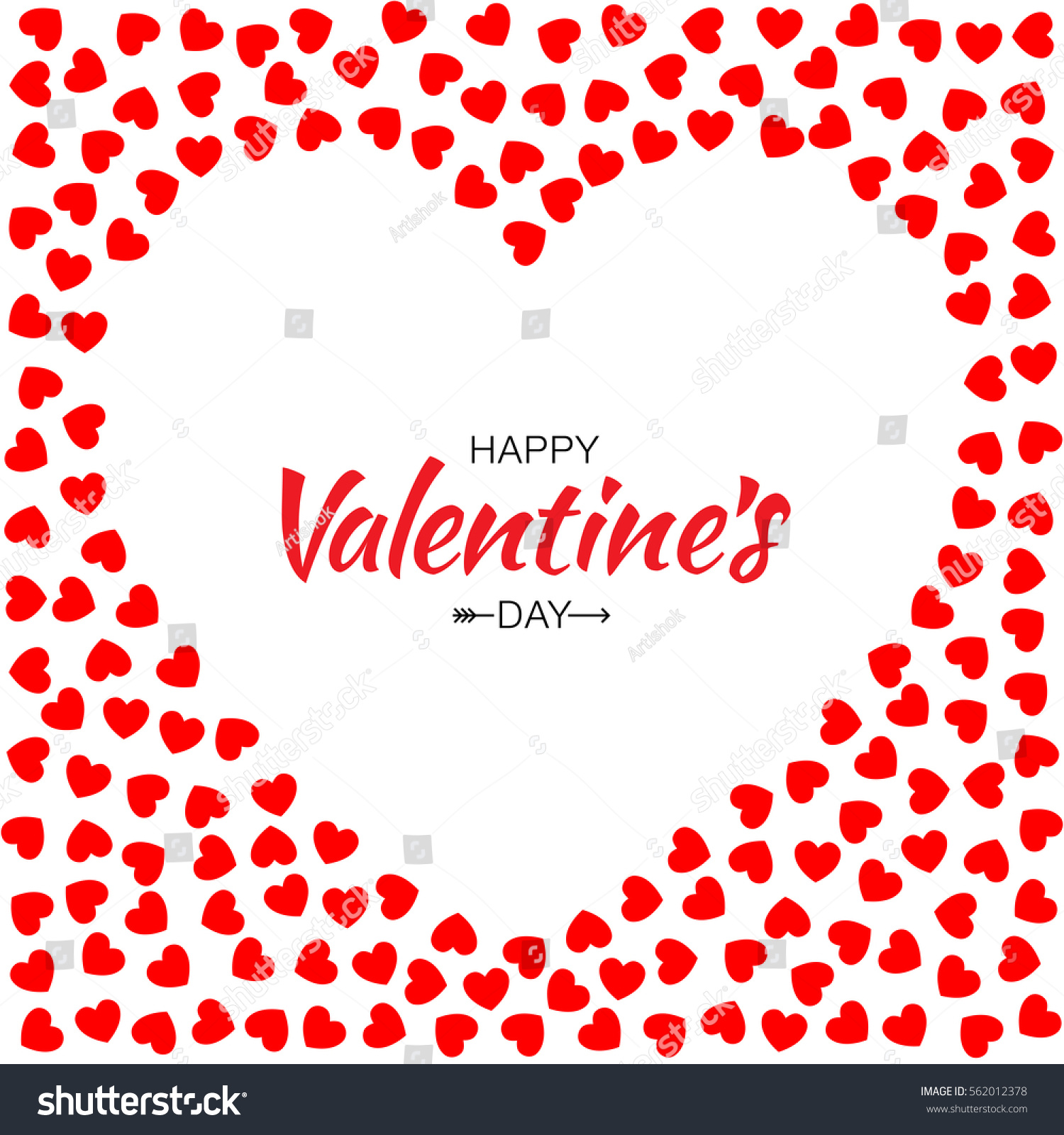 Abstract red small hearts background valentines stock vector hd abstract red small hearts background for valentines day design vector illustration card with white heart stopboris Images