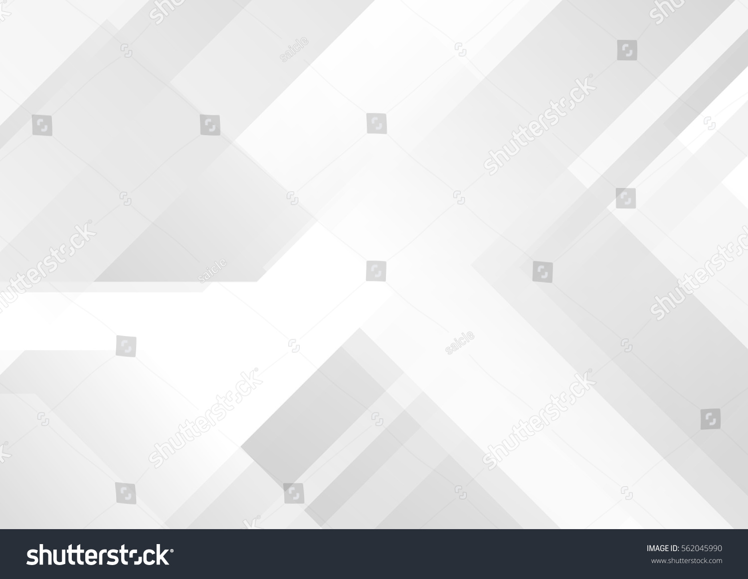 Abstract grey and white tech geometric corporate design background  eps 10 #562045990