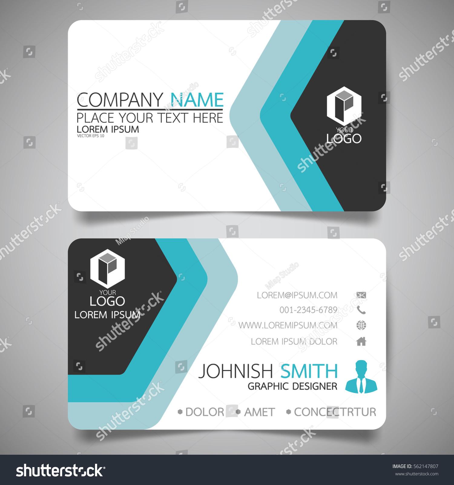 Blue Modern Creative Business Card Name Stock Vector 562147807 ...