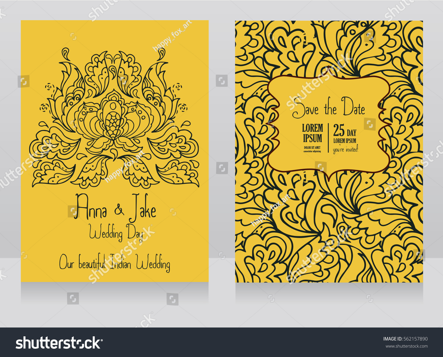 Template Wedding Invitations Indian Style Traditional Vector – Indian Traditional Wedding Cards