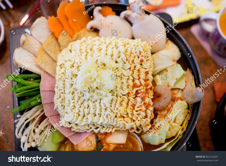 Korean Tokpokki Hot Pot Top View Stock Photo Edit Now 562162207