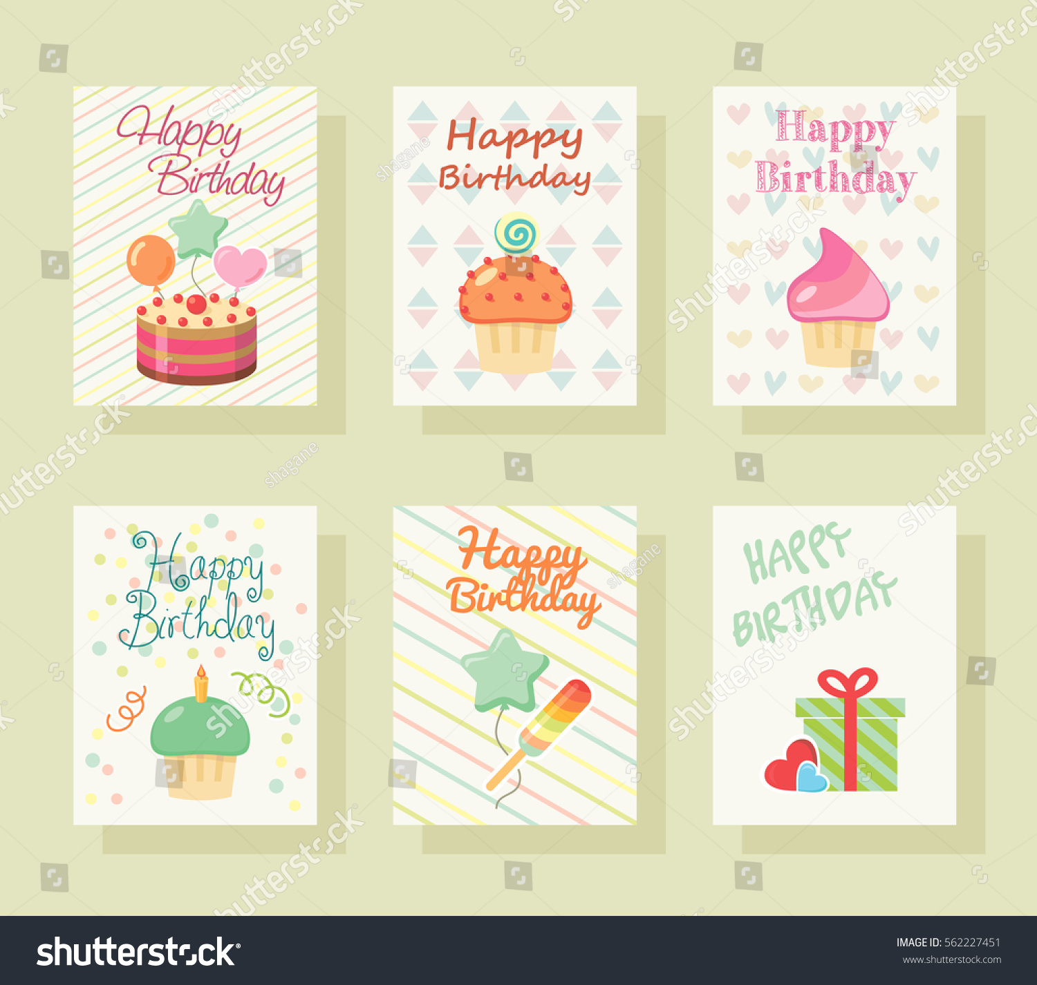 Happy birthday invitation card baby greeting stock vector happy birthday invitation card baby greeting postcard happy birthday background design template stopboris Gallery