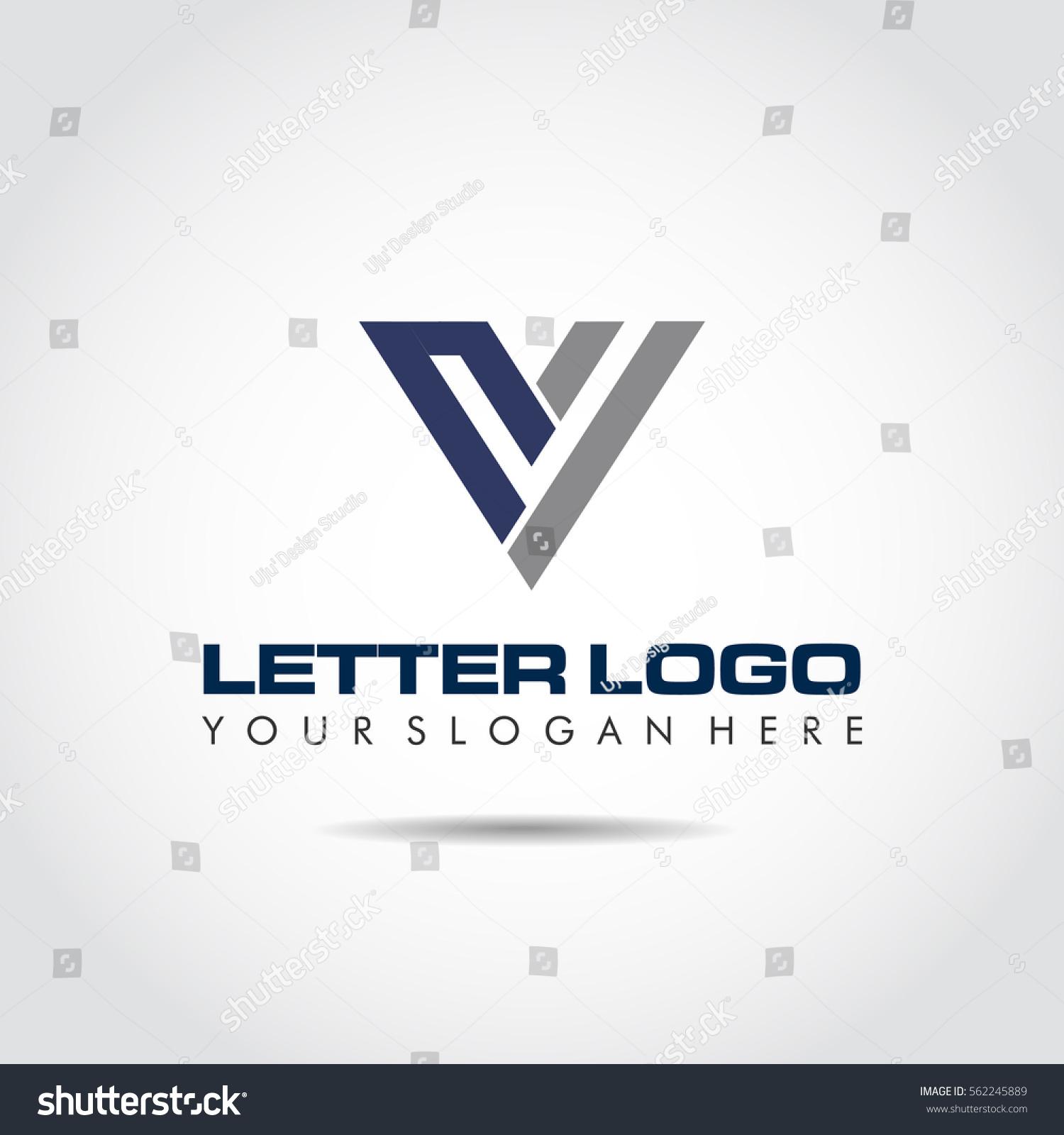 abstract letter v logo template vector stock vector 562245889