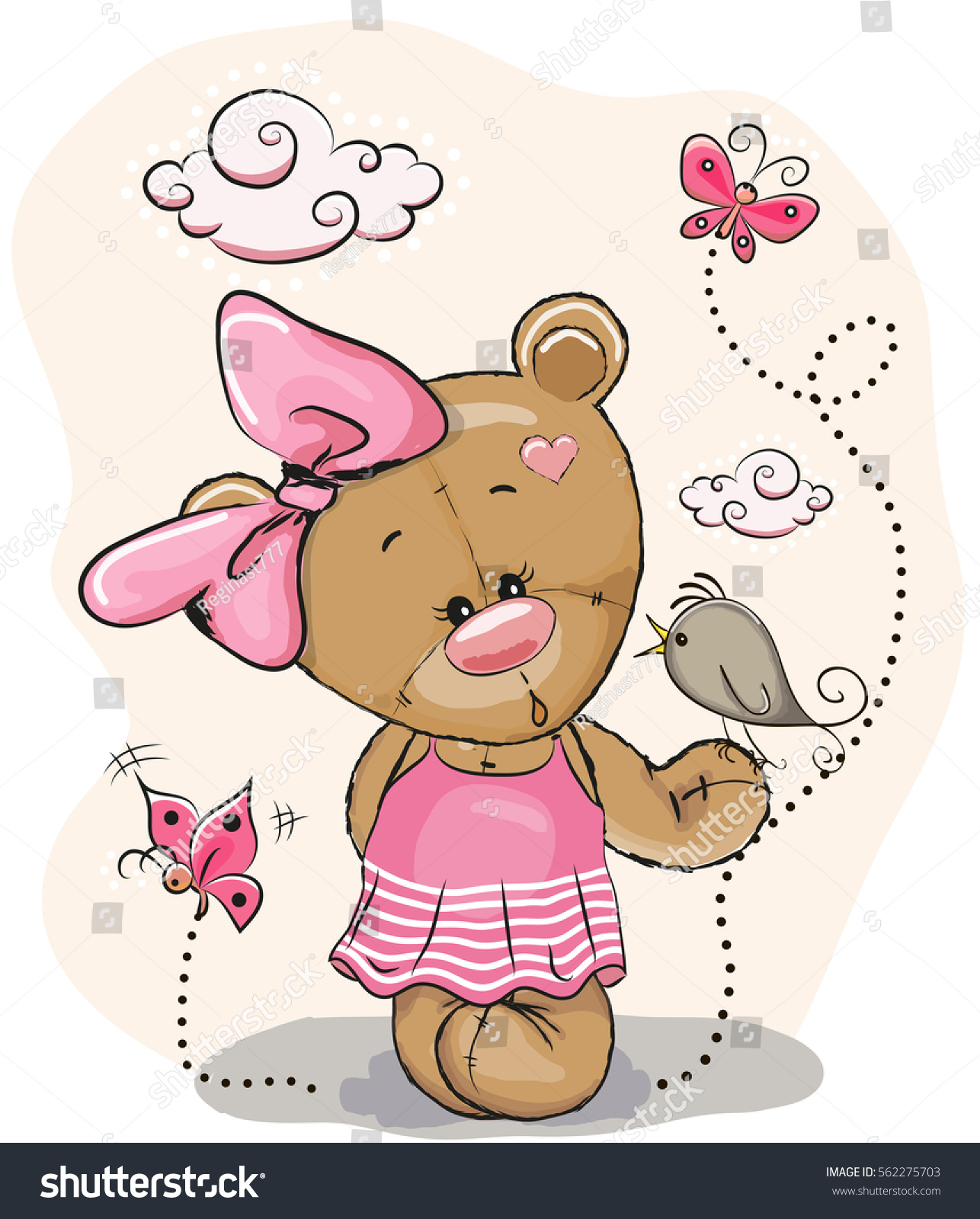 Pink Teddy Bear Stock Images RoyaltyFree Images