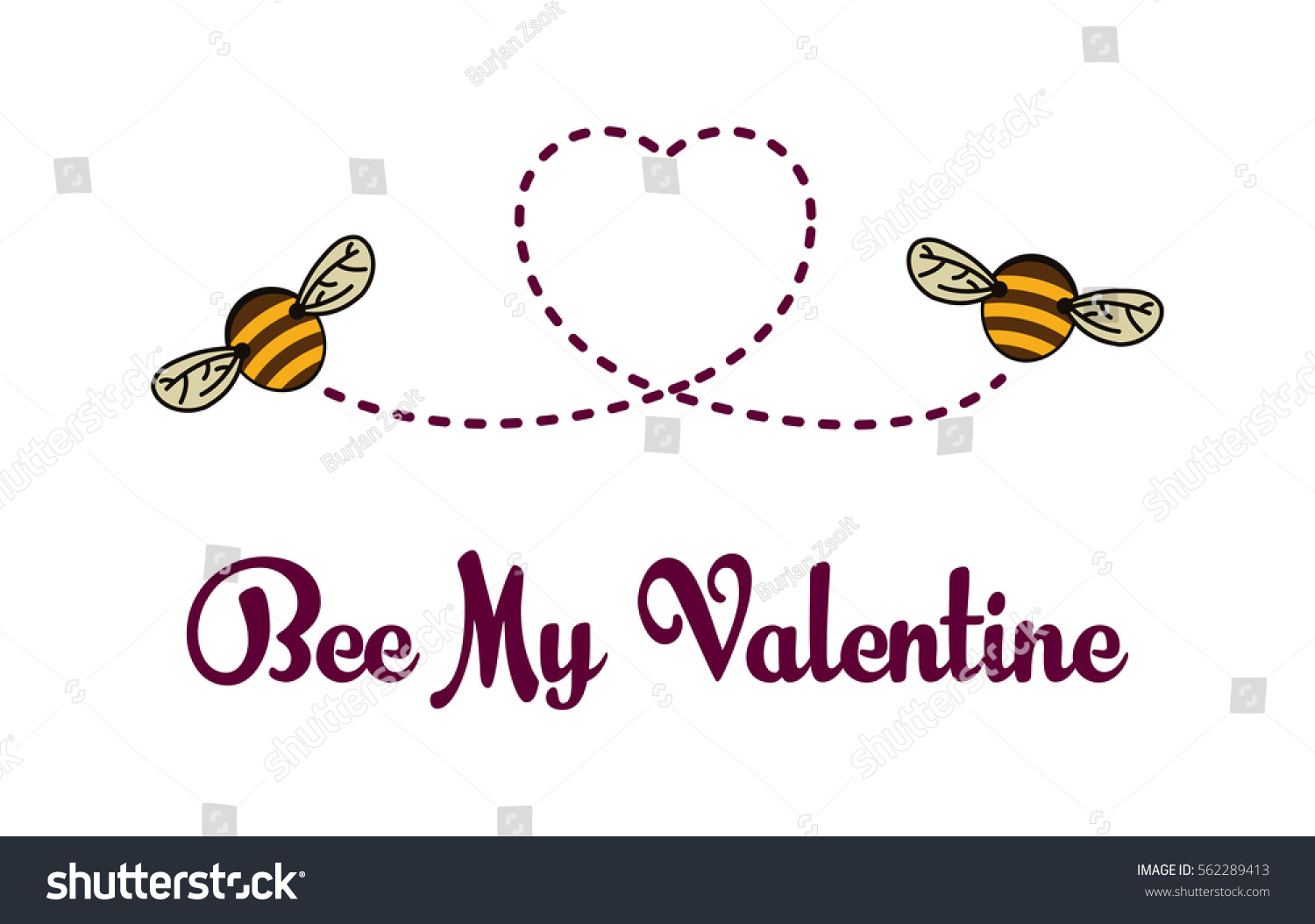 Be My Valentine Card Bees Flying Vector 562289413 Shutterstock – Funny Be My Valentine Cards