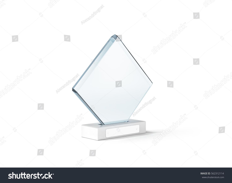 blank glass trophy mockup stand on stock illustration 562312114 shutterstock. Black Bedroom Furniture Sets. Home Design Ideas