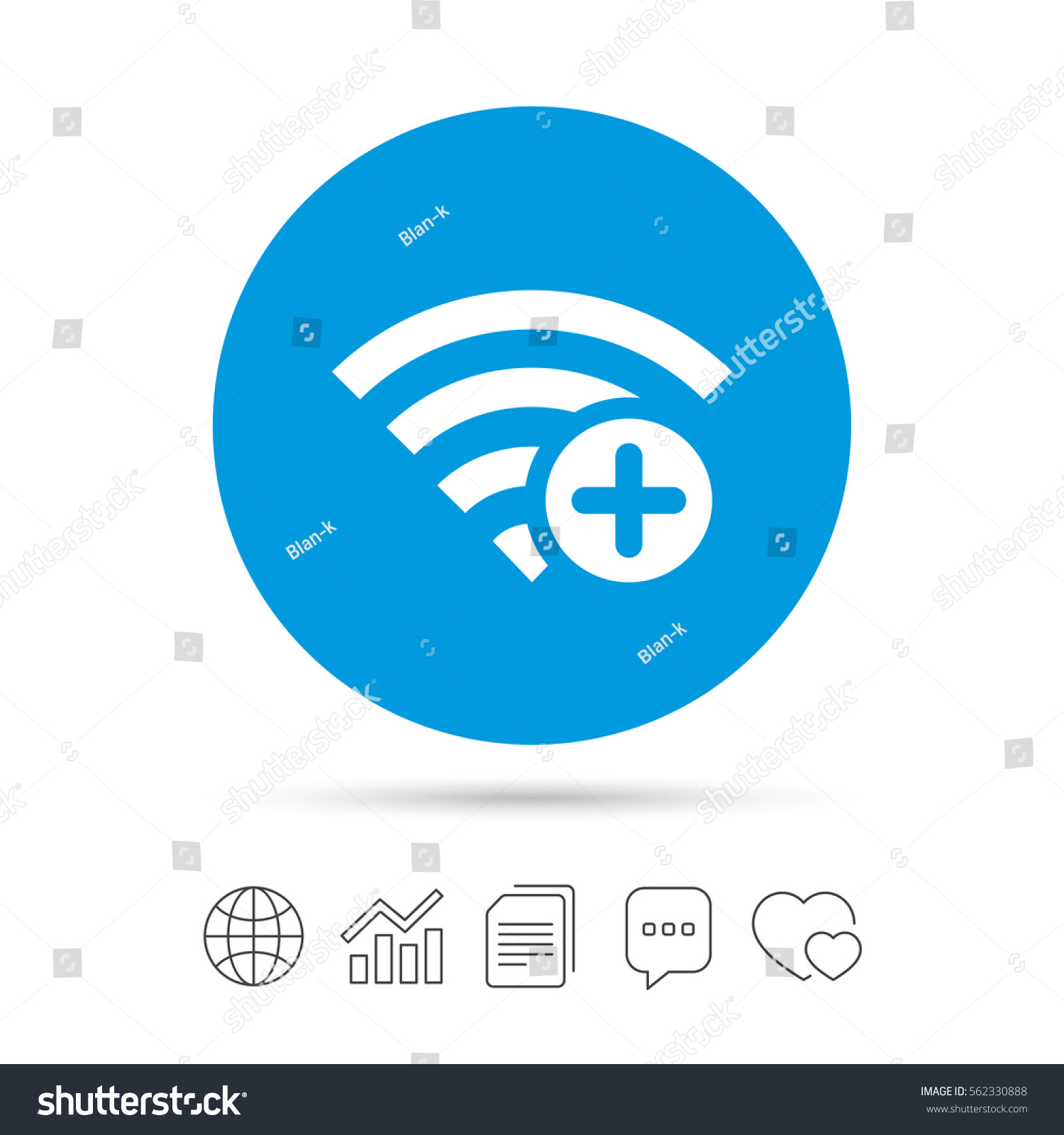 Wifi plus sign add wifi symbol stock vector 562330888 shutterstock add wi fi symbol wireless network icon wifi zone buycottarizona