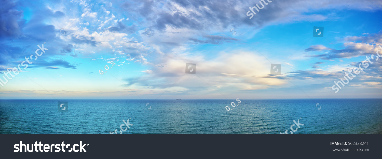 beautiful seascape panorama. Composition of nature #562338241