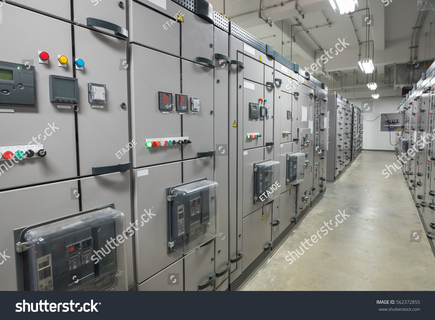Electrical Switchgear Industrial Electrical Switch Panel Power Stock ...