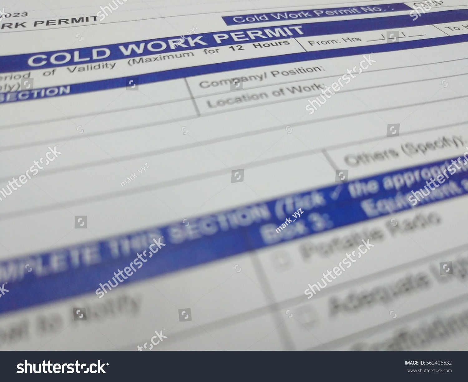 Health Safety Environment Hse Cold Work Stock Photo 562406632 ...