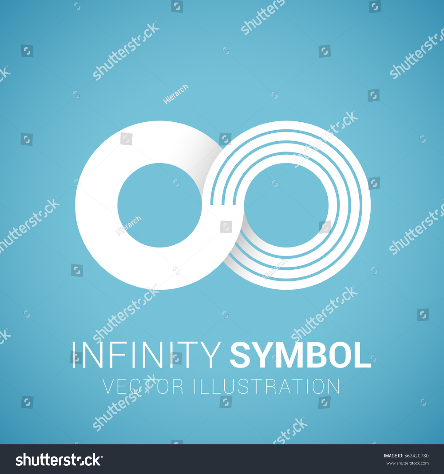 White paper infinity symbol logo design stock vector 562420780 white paper infinity symbol logo design element isolated on blue background free space biocorpaavc