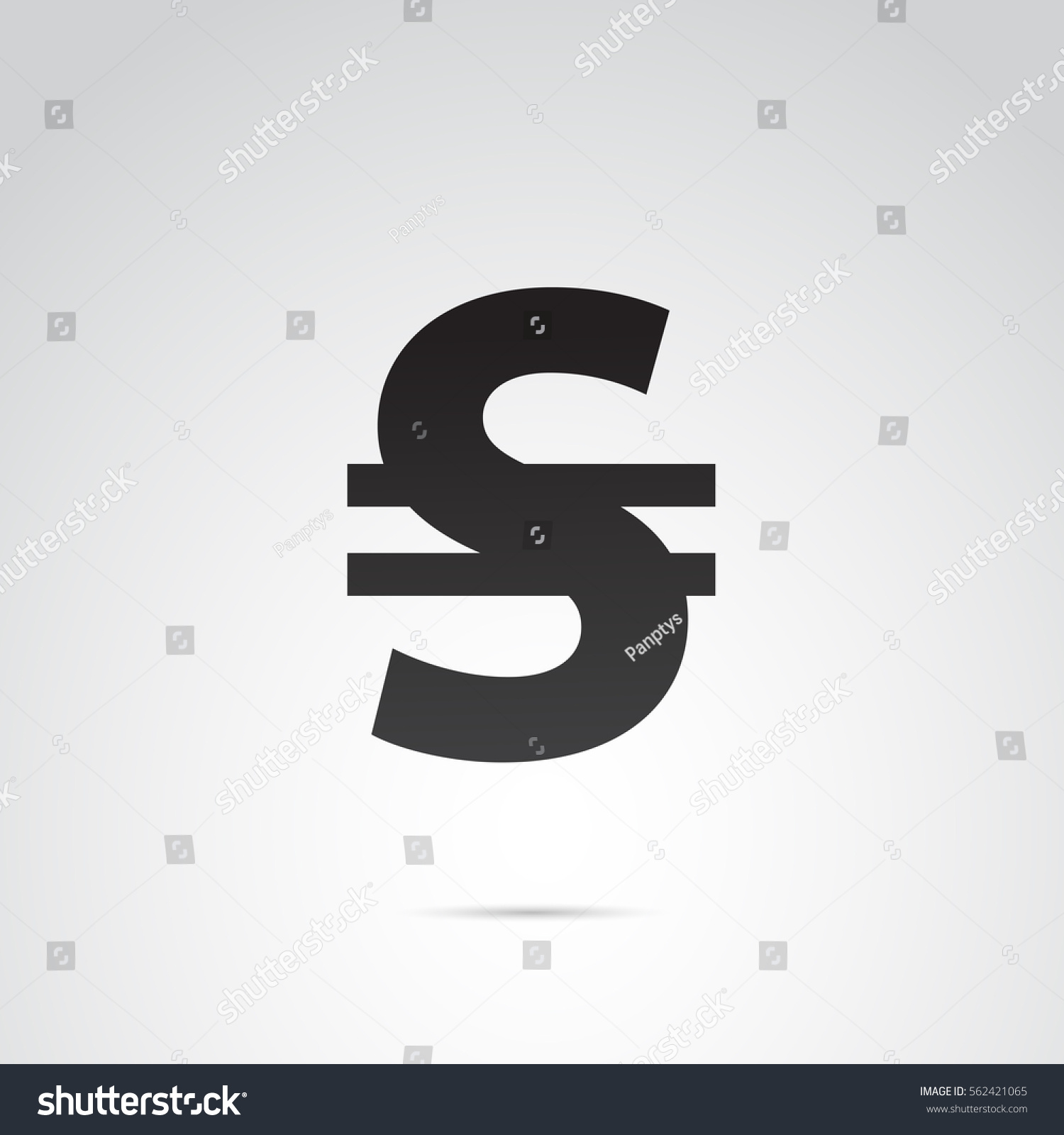 Ukraines Currency Hryvnia Icon Vector Art Stock Vector Royalty Free
