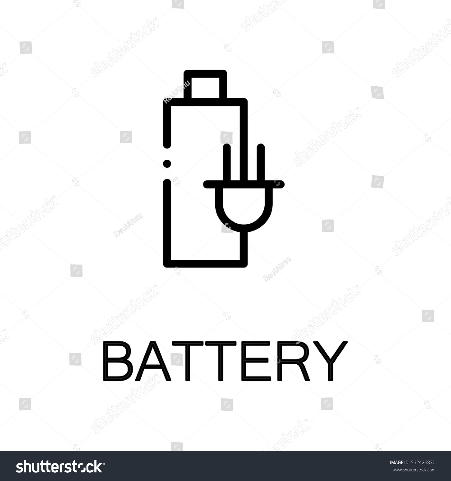 Battery icon single high quality outline stock vector 562426870 single high quality outline symbol for web design or mobile app thin biocorpaavc Choice Image
