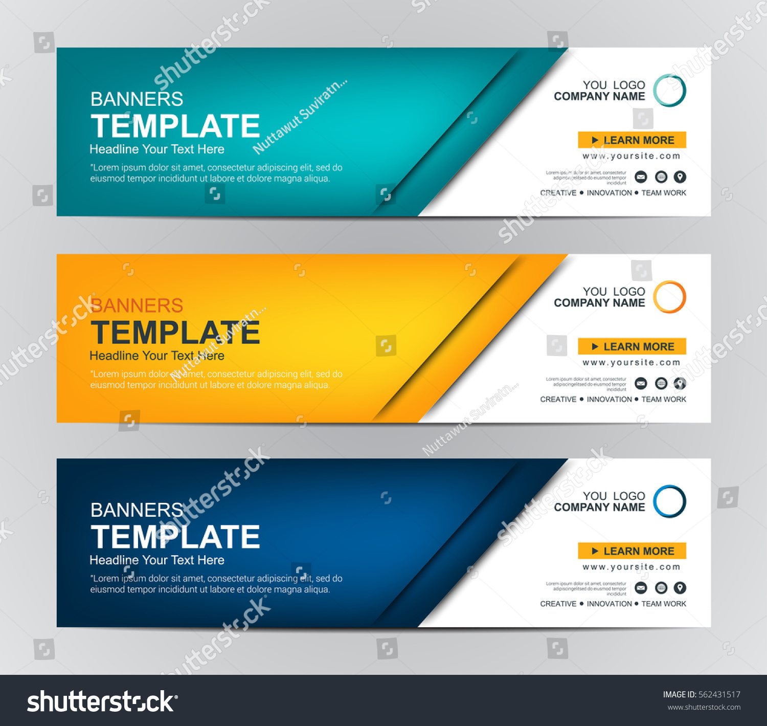 Abstract Web banner design background or header Templates #562431517